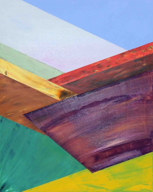 The Valley in Autumn Acrylic on Canvas by Luke McEwen